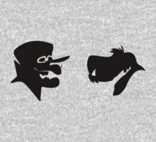 Dick Dastardly and Muttley Silhouette by Luc Kersten
