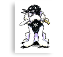 Poodle Pirate Canvas Print