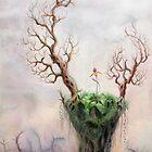 An Island Of Life In A Sleeping Sea by Bjorn Eek