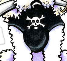 Poodle Pirate Sticker
