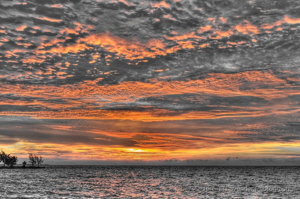 Sky in Fire at Sunrise - Nassau, The Bahamas by Jeremy Lavender Photography
