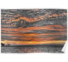 Sky in Fire at Sunrise - Nassau, The Bahamas Poster