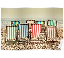 Deck chairs at Beer Poster