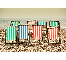 Deck chairs at Beer Photographic Print