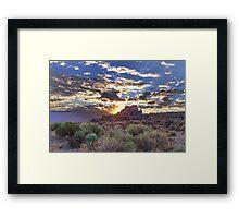 Drama Sunrise Framed Print