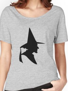Wicked Witch Silhouette Women's Relaxed Fit T-Shirt