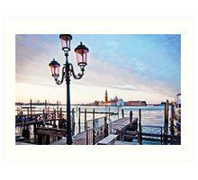 Sunrise in Venice II Art Print