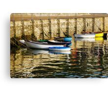 Row-Boats ~ Ready And Waiting  Canvas Print