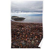 Beach Full of Stones Poster