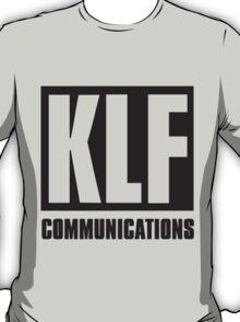 KLF Communications (black bg, white letters) T-Shirt