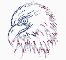 American Patriotic Dots Eagle Flag T-Shirt Baby Tee