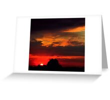 Brilliant Sunset Hues Greeting Card