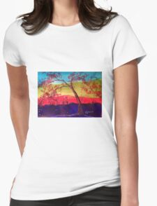 Pink blossoms Tree Womens Fitted T-Shirt