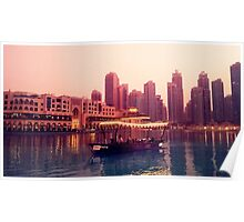 Dubai twilight river cruise Poster