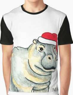 2013 Holiday ATC 17 - Ho Ho Ho Hippo Graphic T-Shirt