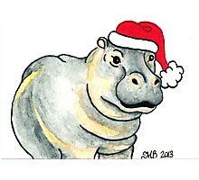 2013 Holiday ATC 17 - Ho Ho Ho Hippo Photographic Print