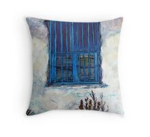 Greek Facade Throw Pillow