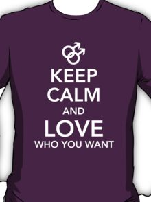 Keep calm and love you you want - Gay T-Shirt