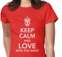 Keep calm and love you you want - Lesbian Womens Fitted T-Shirt