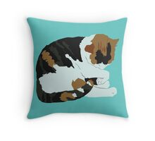 Cozy Calico Throw Pillow