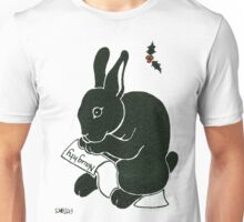2013 Holiday ATC 15 - Rabbit Looking at the Naughty List Unisex T-Shirt