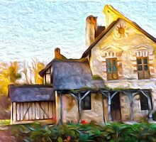 Cottage in the French Country Side by Alma Lee
