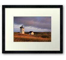 Wood End Lighthouse Landscape Framed Print