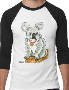2013 Holiday ATC 13 - Koala with Sleigh Bell Men's Baseball ¾ T-Shirt
