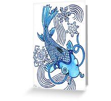 2013 Holiday ATC 12 - Koi with Snowflakes Greeting Card