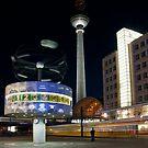 Alexanderplatz at Night by Manuel Gonçalves