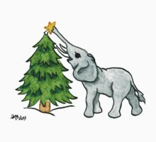 2013 Holiday ATC 11 - Christmas Tree and Elephant One Piece - Short Sleeve