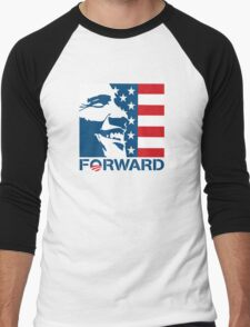 Obama Forward 2012 Flag Shirt Men's Baseball ¾ T-Shirt
