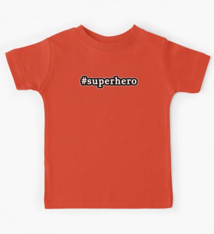 Superhero - Hashtag - Black & White Kids Tee