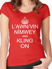 Keep Calm and Kling On Women's Fitted Scoop T-Shirt
