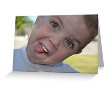 Silly face Greeting Card