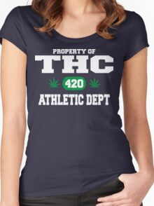 Cannabis THC Athletic Dept Women's Fitted Scoop T-Shirt