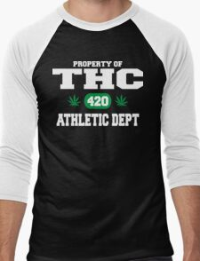 Cannabis THC Athletic Dept Men's Baseball ¾ T-Shirt