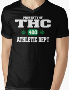 Cannabis THC Athletic Dept Mens V-Neck T-Shirt