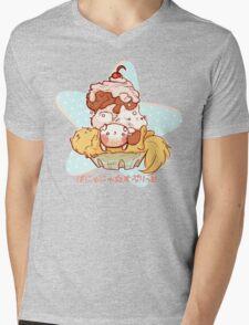 BANYANYA split Mens V-Neck T-Shirt