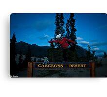 Carcross Yoga Canvas Print