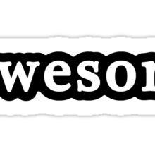 Awesome - Hashtag - Black & White Sticker