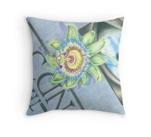 Passiflora on a Copy of the Mind's Eye Throw Pillow
