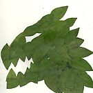 DRAGON OUT OF LEAVES  by StuartBoyd