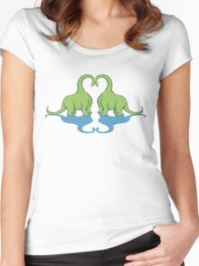 Dino Love Women's Fitted Scoop T-Shirt