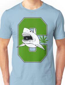 Great White Shark Marijuana Unisex T-Shirt