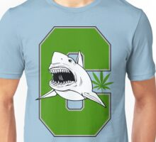 Great White Shark Marijuana Unisex T-Shirt