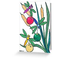 2013 Holiday ATC 7 - Dragonflies with Ornaments Greeting Card