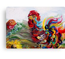 It's a Cockadoodle Do Morning! Canvas Print