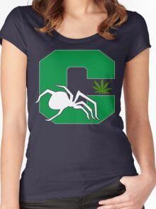 White Widow Cannabis T-Shirts Hoodies Women's Fitted Scoop T-Shirt