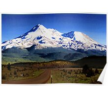 Mt. Shasta Graphic Poster